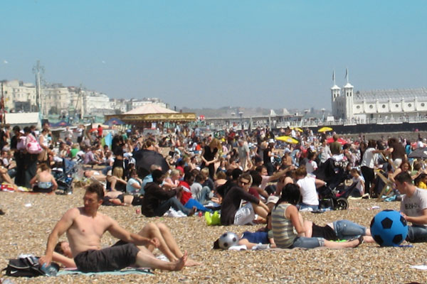 Sustainable tourism overcrowded beach